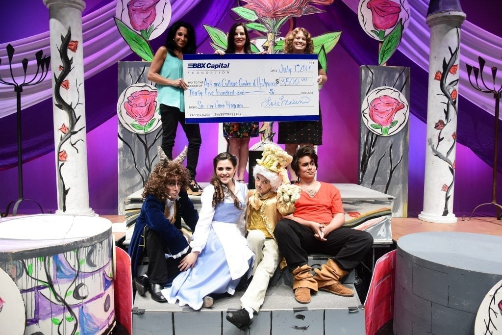 P top row lois marino joy satterlee and susan rakes bottom row performers from beauty and the beast
