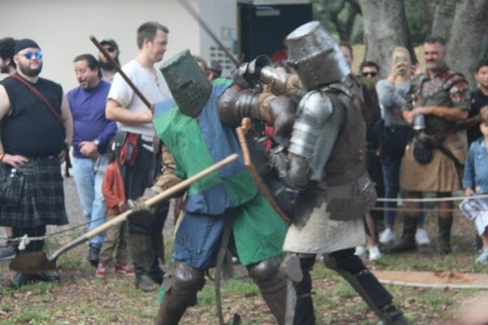 Royal Chessmen and History of Chivalry, groups based in Hollywood enjoy Camelot Days